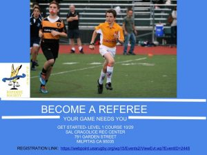 Referee level 1 course